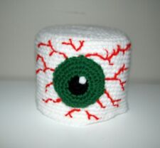 Handmade Toilet Paper Roll Cover Crochet HALLOWEEN BLOODSHOT EYE bathroom
