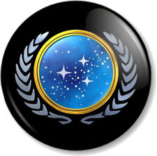 """Star Trek United Federation of Planets 1"""" 25mm Pin Button Badge Crest Logo Icon"""