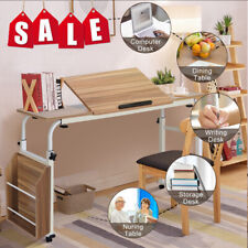 New Adjustable Laptop Cart Mobile Computer Desk Furniture W/Storage Box Wheels