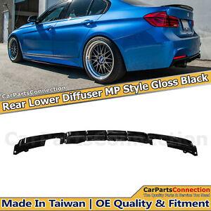 Glossy Black Rear Diffuser For BMW 3 Series 12-18 F30 MP Style M Sport Bumper