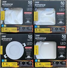 FOUR - NEW FEIT Electric LED R4JBX/930 10W 50W Dimmable CANLESS DOWNLIGHT, 3000K