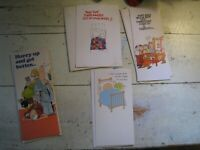 vintage American Greeting Cards GET WELL (4 qty) 1974-77 ZIGGY Hi Brows NEW NOS