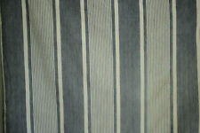 Antique French Striped Ticking Heavy Mattress Cover Blue & White Fabric