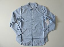 NWT Equipment Kenton in French Blue L/S Cotton Button Down Shirt L $218