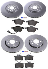 FOR VW GOLF MK6 2.0 GTD 09-13 FRONT & REAR BRAKE DISCS AND PADS SET NEW