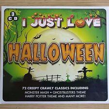3CD NEW - I JUST LOVE HALLOWEEN - CREEPY CRAWLY CLASSICS - Pop Music 3x CD Album