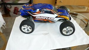 Traxxas 1/10 Brushless Scale Rustler 2WD Stadium Truck- Blue Without Transmitter