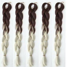 5 Pcs Ombre Brown Blond Kanekalon Jumbo Braids Hair Synthetic Braiding Extension