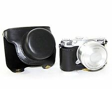 PU Leather Camera Case Bag for Nikon 1 J5 Digital Camera with 10-30 mm with Lens