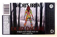 Short's Brew DOLLY DAGGER beer label MI 12oz STICKER