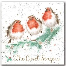 Set of 8 The Carol Singers Christmas Cards - Wrendale Designs Robins Xmas Card