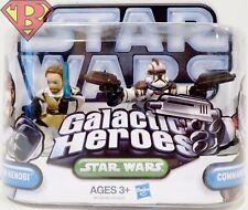 """OBI-WAN KENOBI & COMMANDER FIL Star Wars Galactic Heroes 2"""" Figures 2-pack 2010"""