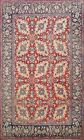 Floral Semi Antique Najafabad Hand-knotted Area Rug Wool Oriental Carpet 7'x9'