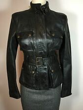 $1950 Belstaff Leather Biker Style Brad Jacket Blouson Size 42 Made in Italy