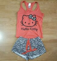Hello Kitty Vest Top Sleeveless With Shorts Short Pants Set Ladies Size 10/12