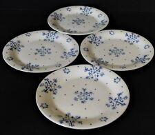 4 Gibson USA Everyday Blue Snowflake Dessert Salad Plates Holiday Christmas