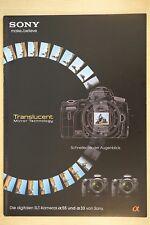 Sony Alpha 55 y 33 folleto, 20 páginas, 2010, APS-C