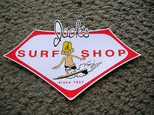 vintage jacks surf shop surfboard sticker surfing longboard large style 1960s