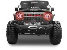 "Jeep Wrangler CJ5 CJ7 CJ8 TJ JK CJ RED LED Halo 7"" Round Headlights JTX Autopal"