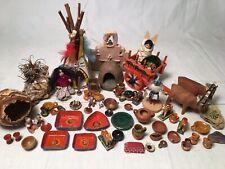 Lot Dollhouse Miniatures For Diorama Native American Indian Artist Dolls Kachina