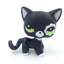 Littlest Pet Shop LPS 2249 Standing Black Flower Patch Blythe Cat Green Eyes Toy