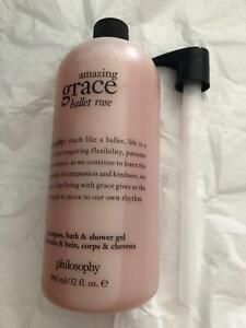 Philosophy Amazing Grace Ballet Rose Shampoo Bath Shower Gel 3 in 1 32 Ounce