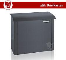 Zaunbriefkasten Briefkasten Edelstahl Toplader anthrazit RAL 7016 (Art. 010.02)