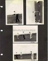 1930s Vintage 5 Photo Lot Golf Course Golfers Photographs Black & White Original