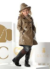 New Authentic Gucci Crystal GG Hooded Double-breast Rain Coat Jacket, 2, 265611