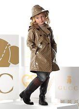 Neu Authentisch Gucci Crystal Gg mit Kapuze Doppelreiher Regenmantel Jacke, 2,