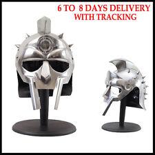 Roman Gladiator Maximus Helmet with Spikes Armor Halloween Cosplay