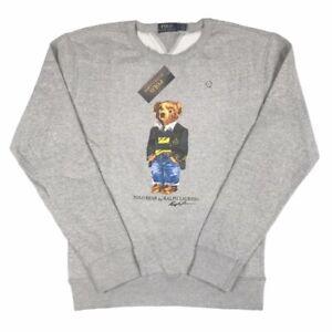 Polo Ralph Lauren Men's Bear Logo Jumper Sweatshirt Grey Limited Edition NEW