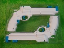 wii REVOLVER GUNS X2 White Wild West Pistols NEW Light Gun Shooter NO GAME