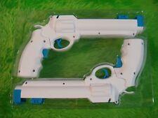 Wii Revolver Guns X2 Blanco Salvaje Oeste Pistolas nuevo tirador de pistola de luz sin juego