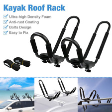 2 xUniversal Roof J-Bar Luggage Rack Kayak Boat Canoe Carrier Car SUV Top Mount