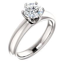 1 Ct Forever Brilliant Moissanite Solitaire Engagement Ring 14k White Gold