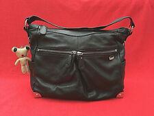 Il Tutto ~ 'STELLA' Hobo Black Leather Changing / Nappy Bag & Accessories