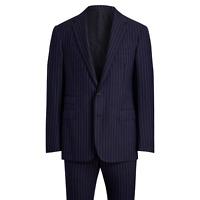 Ralph Lauren Purple Label Douglas 2 Button Notch Handmade Striped Wool Suit 38R