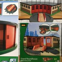 BRIO 33736 Grand Roundhouse for Wooden Train Set - Rotating Station Railway Toy