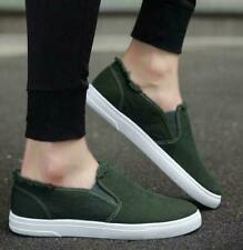 New Spring Summer Mens Retro Low Top Canvas Slip On Loafers Shoes Casual Outdoor
