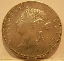 Hong Kong 1893 Silver 50 Cents Nice XF - AU