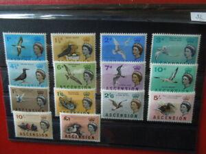 G2270    ASCENSION 1963  birds  sg  70-83  mi  75-88  set  MNH