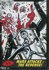 Mars Attacks The Revenge [2017] Sketch Card By Darrin Pepe