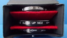 KOOD High Quality Set of 3 x 43mm Close Up Lens Cased, 1, 2  & 4 Made in Japan