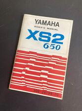 YAMAHA XS2 ORIGINAL OWNERS MANUAL 650