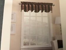 SUN ZERO BLACKOUT ENERGY EFFICIENT THERMAL LINED WINDOW VALANCE BROWN 40x18