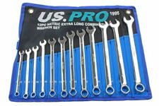 X-Long Spanner Set, 8mm to 19mm, Combination Spanners, 12 Piece Set US PRO B1995