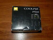 New Open Box - Nikon CoolPix P510 16.1MP 42x Zoom Camera - Black - 018208263295