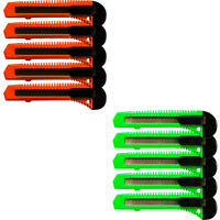 10 Safety Box Cutter Utility Knife Retractable Snap off Razor Blade ORANGE GREEN