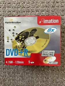 Imation DVD+R - Recordable Lightscribe DVDS x 4